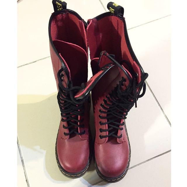 酒紅色靴靴❤️