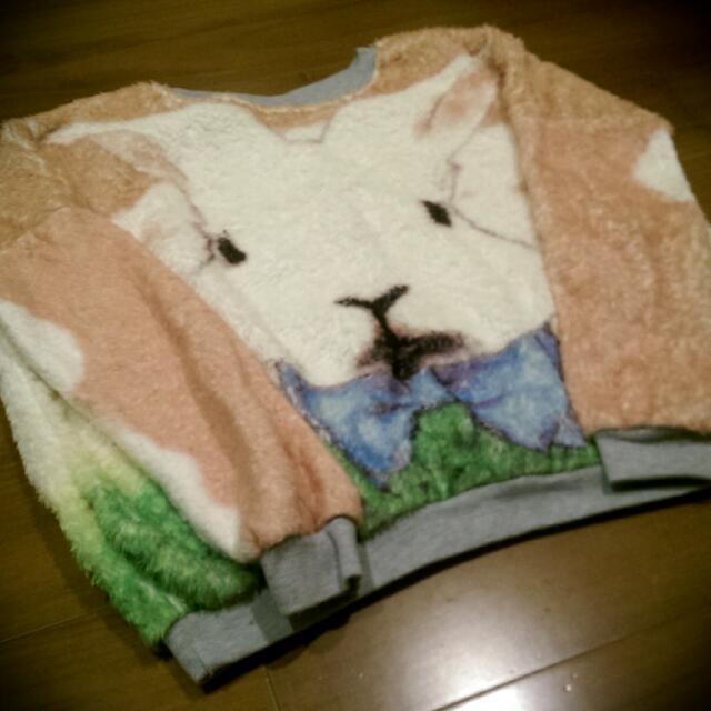 故事小兔絨毛毛衣