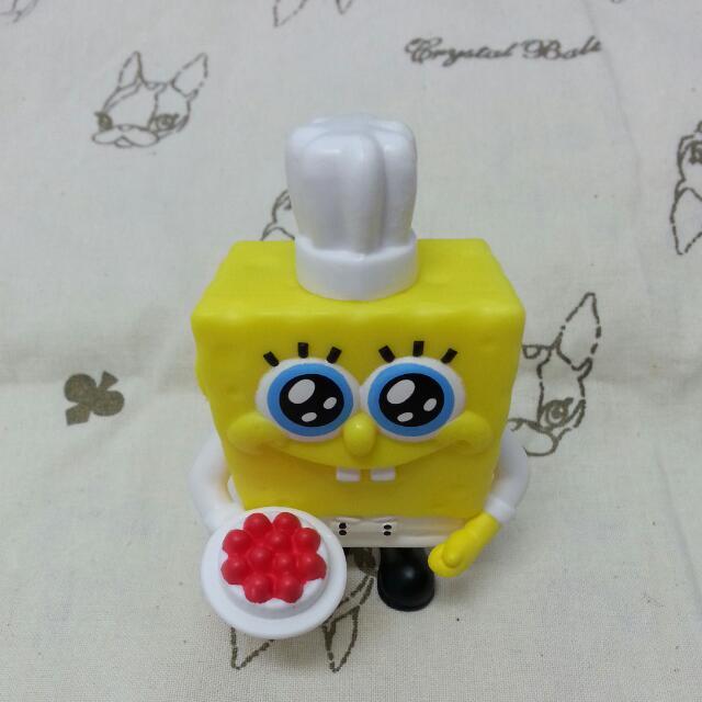 海棉寶寶造型公仔(內有貼紙)