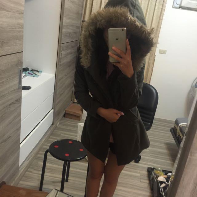 保暖雙排扣外套