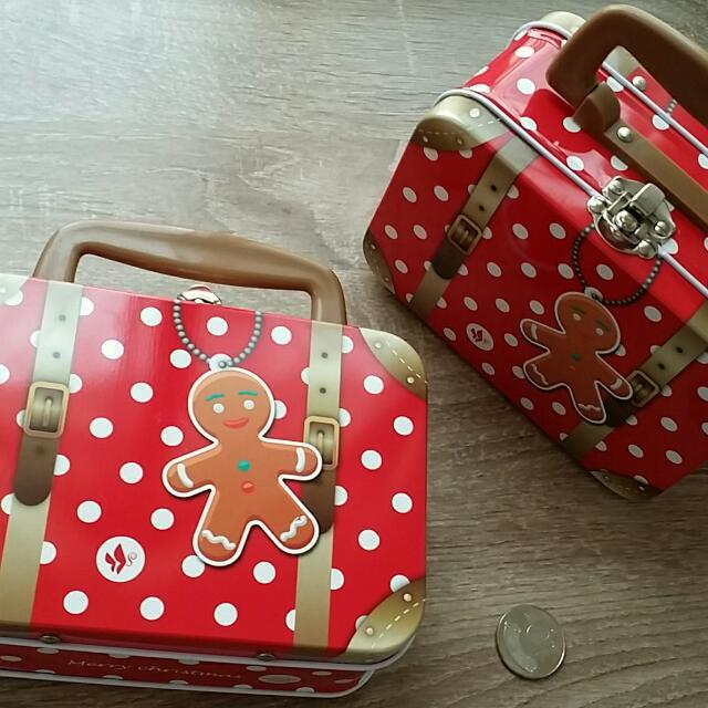 薑餅人小鐵盒 提盒