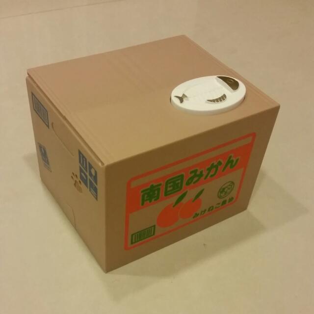 貓咪存錢桶 有盒子 裡面有電池