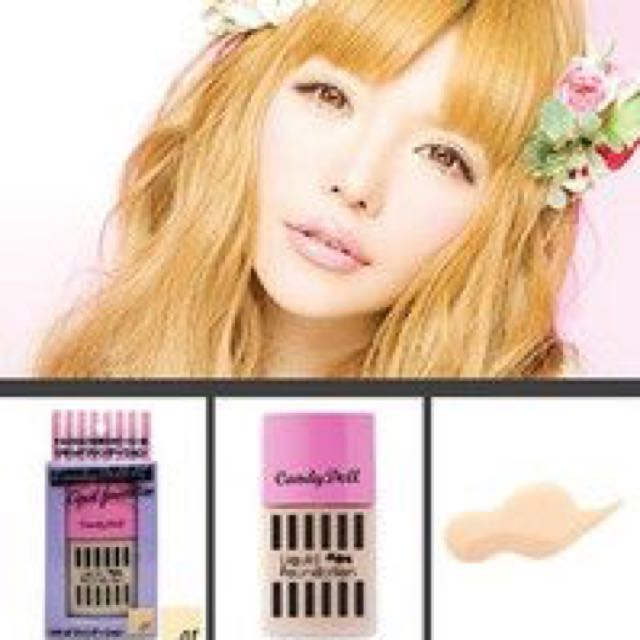 全新日本🇯🇵 益若翼candydoll 糖果陶瓷娃娃奇肌柔潤粉底液 02自然膚色