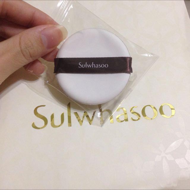 雪花秀 Sulwhasoo 氣墊粉霜專用粉撲 現貨