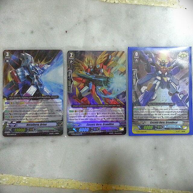 Cardfight Vanguard Dimension Police Foils