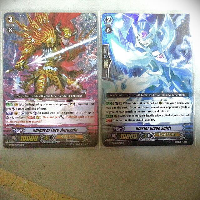 Cardfight Vanguard Gold Paladin Foils