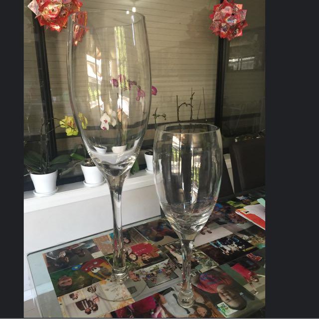 """""""Fleur"""" sparkling wine vases"""