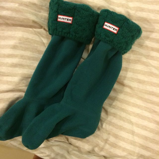 Hunter綠色襪套M號