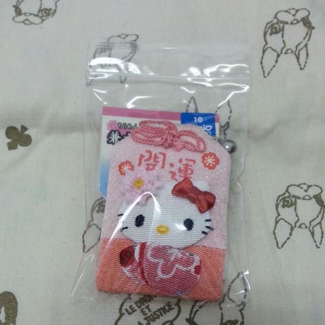 櫻花和服造型Kitty和風布開運御守
