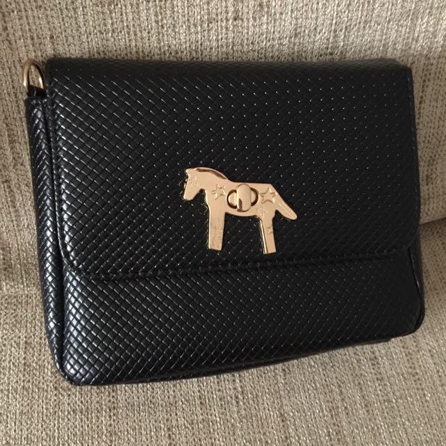 ba4176205e Multi-way Brand New With Dust Bag Lapalette Horse Black Bag