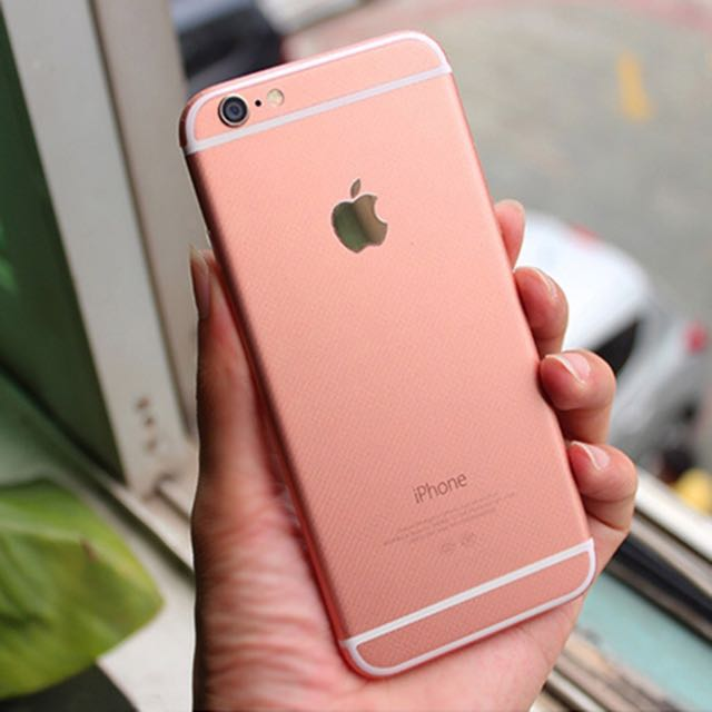 newest luxury rose gold full body sticker decal cover for change iphone 6 n 6 plus to iphone 6s. Black Bedroom Furniture Sets. Home Design Ideas