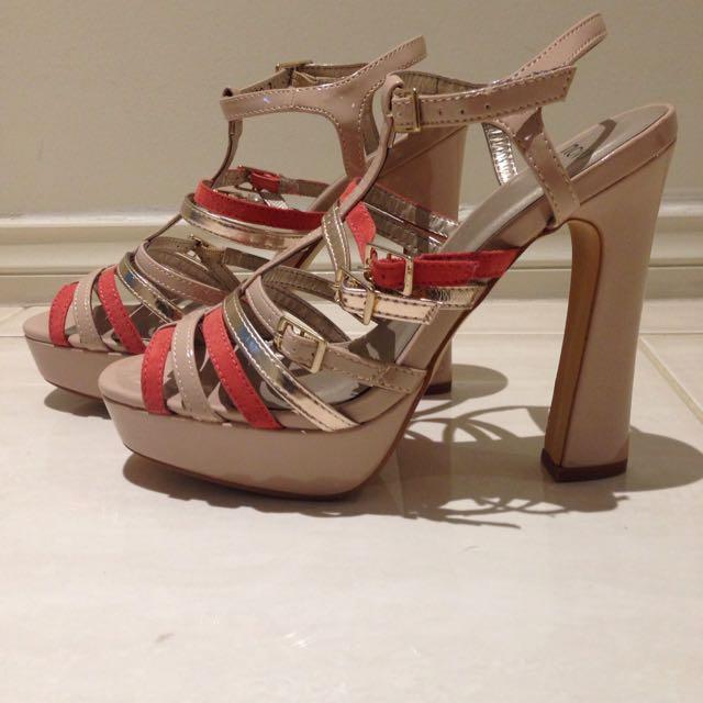 Novo Beige and Pink Heels