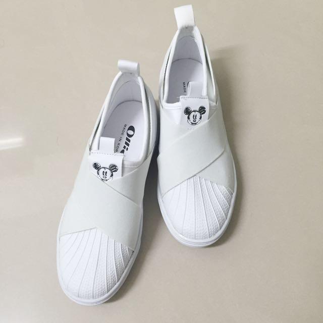 全新Ollie的Mickey白鞋(含運)
