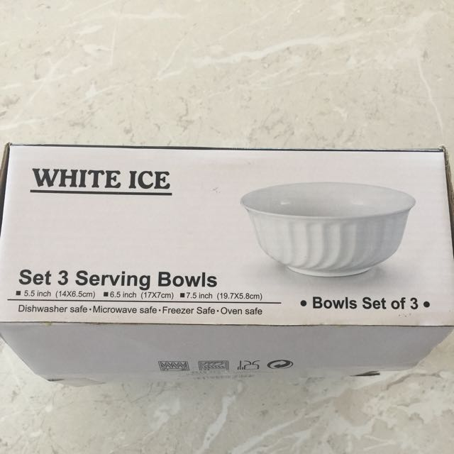 Set 3 serving bowl