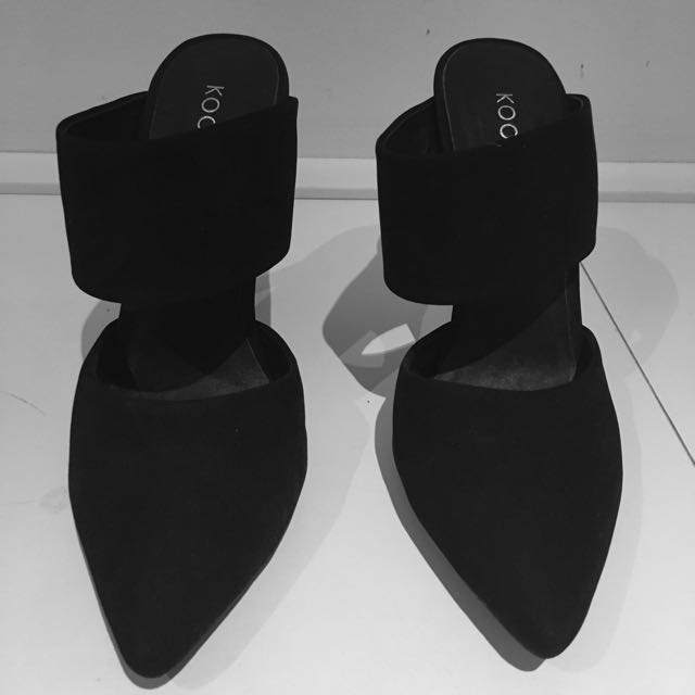 Size 38, Kookai Heel, Never Worn, Black Shoe