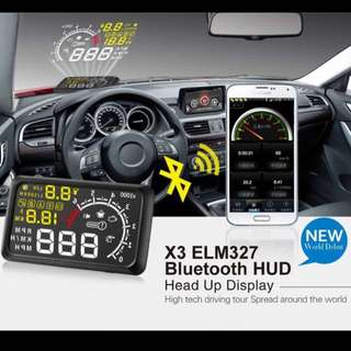 [Ready Stocks] LED Car Heads Up Display (HUD) with ELM327 and Bluetooth Function obd2 obdii interface over speed warning x3 Toyota Chevrolet Kia Hyundai Honda
