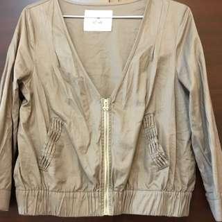 Ef-de專櫃  質感淺灰薄外套。僅下水過⋯全新