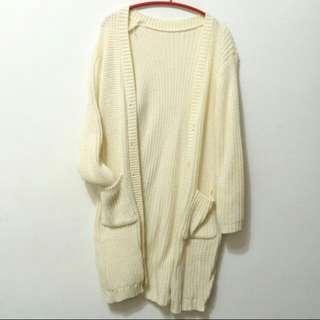 含運!韓國厚磅保暖針織長外套