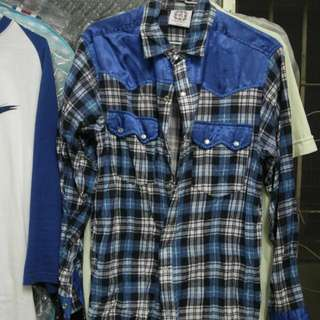 Clot 龍紋中國風絲綢 襯衫M號