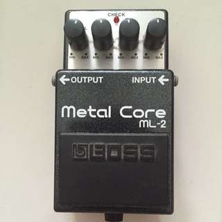 Boss ML-2 Metal Core Stompbox Pedal