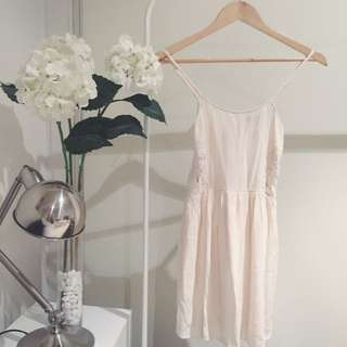 TOPSHOP Off White Summer Dress
