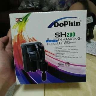 馬來西亞Dophin-海豚【薄型外掛過濾器 SH-200】水族用品