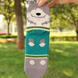 Cute Dog Socks (grey)
