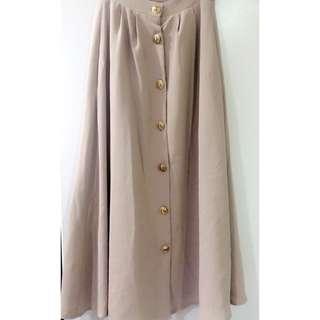 日本購入 排釦長裙