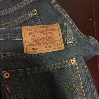 🚚 Levi's. 540經典牛仔褲-26腰