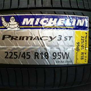 225/45 R18 Michelin Primacy3 Tyre Brand new Offer