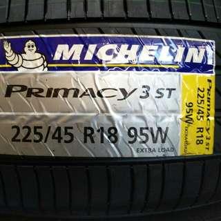 225/45 R18 Michelin Primacy3 Tyre Brand new Offer