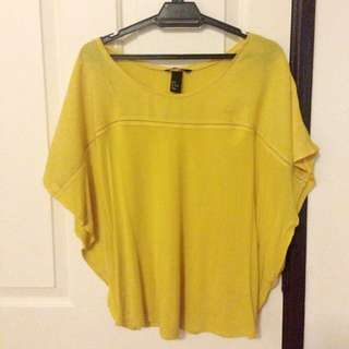 H&M Yellow Batwing Top (FREE POSTAGE)