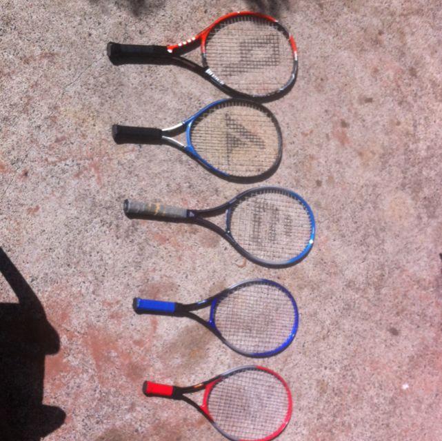 5 Tennis Rackets