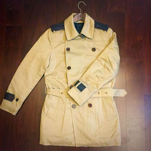 5cm 駝色鋪棉大衣