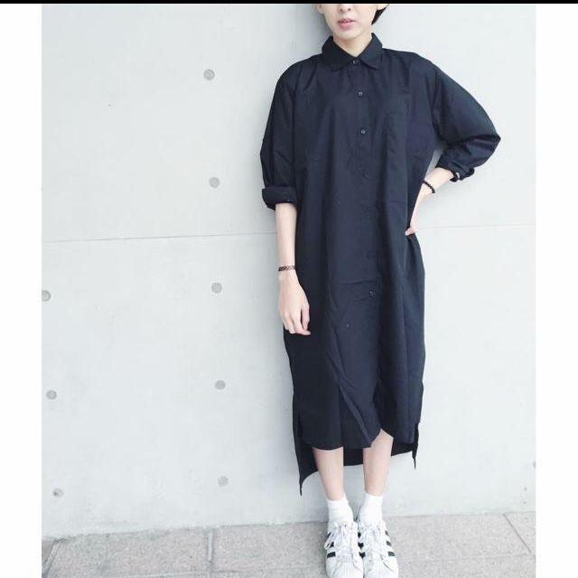 ⭐️黑色排扣襯衫洋裝/外套