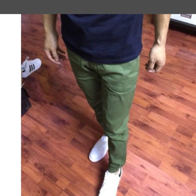 束腳褲-綠色