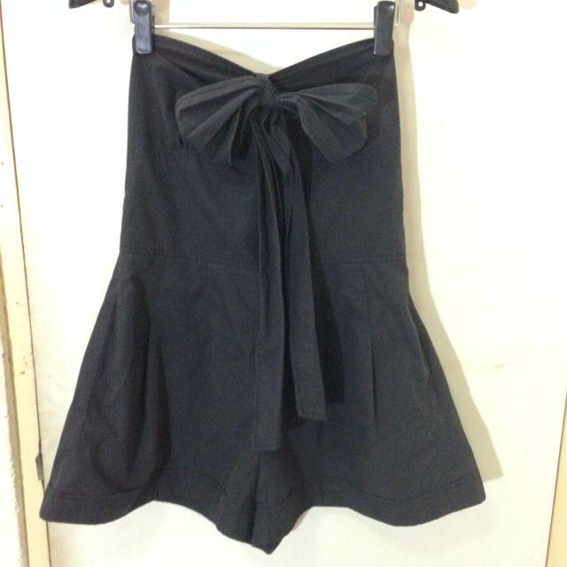 平口式綿質連身褲