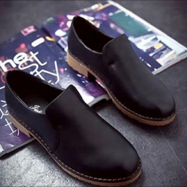 黑色復古牛津鞋文青鞋(含運)