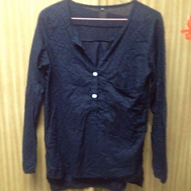 二手衣~知性黑點襯衫