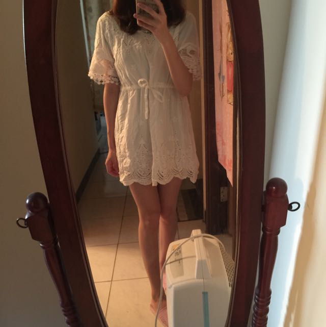全新 白色氣質洋裝