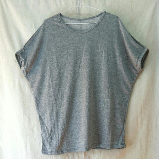 📍 代售 飛鼠袖 灰色百搭素面上衣 T恤