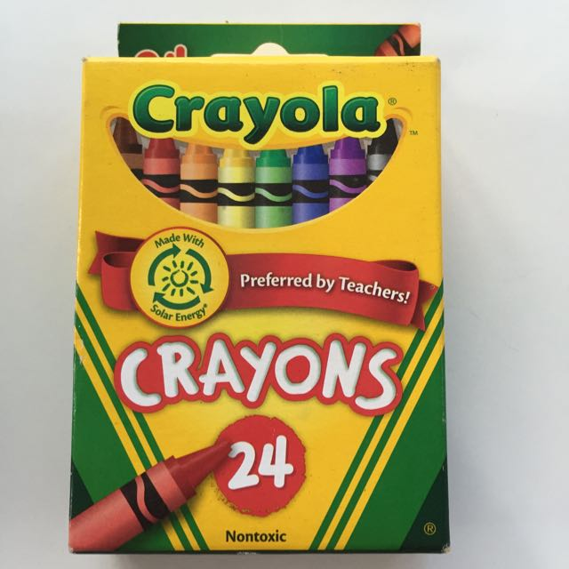 bn crayola crayons 24 count design craft on carousell