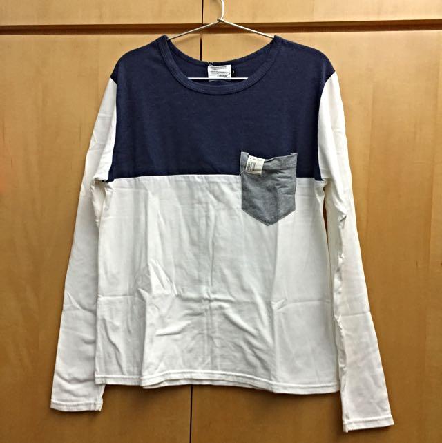 Concept Design 拼接口袋長袖