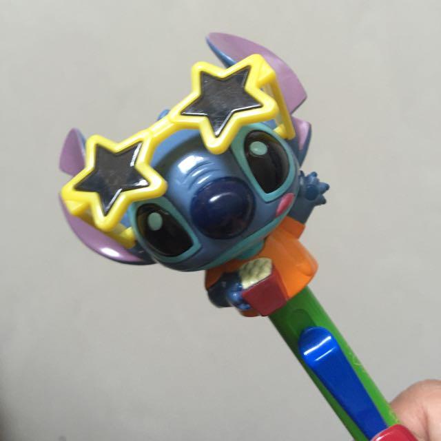Disney 迪士尼 Stitch 史迪奇眼鏡可動式原子筆
