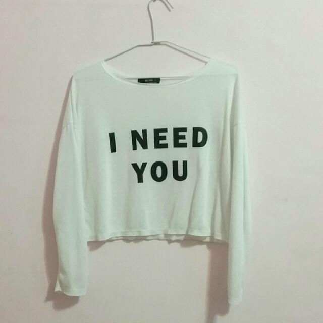 I need you長袖薄上衣