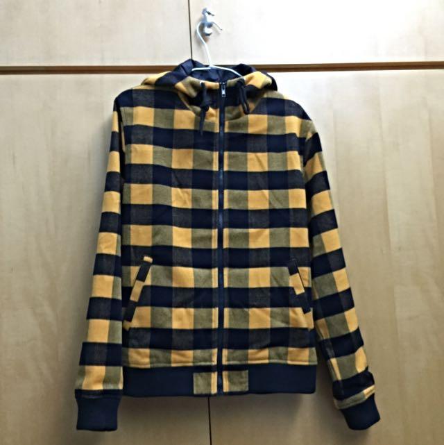 NAVY 格紋外套