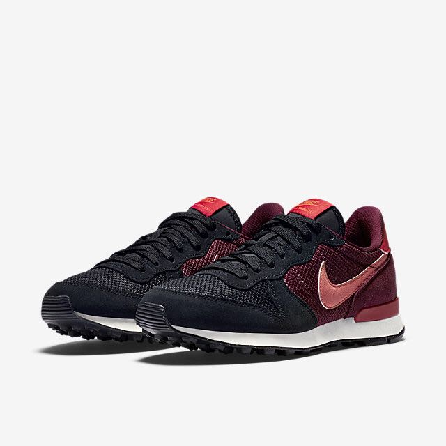 brand new ca610 78ad3 Nike Internationalist (Women) - Black Deep Garnet Gym Red Bright ...