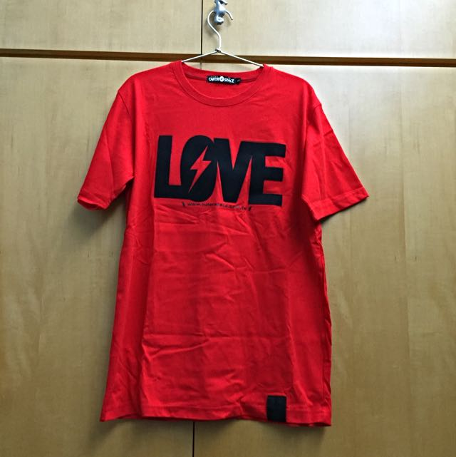 OuterSpace 紅色Love T-shirt 情侶裝