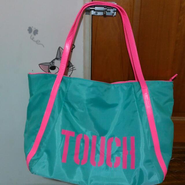近全新Tiffany綠大方包肩背包媽媽包