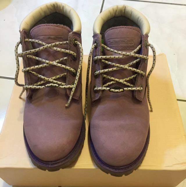 (降價)Timberland 短靴 淺紫